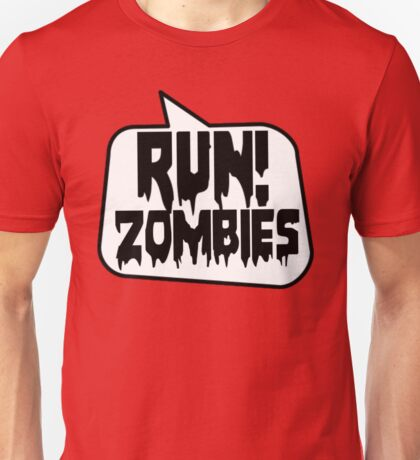 RUN! ZOMBIES by Bubble-Tees.com Unisex T-Shirt