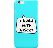 I BUILD WITH BRICKS by Bubble-Tees.com iPhone Case/Skin