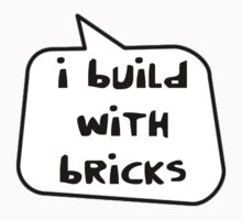 I BUILD WITH BRICKS by Bubble-Tees.com One Piece - Short Sleeve