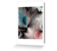 Floral Distortion Greeting Card