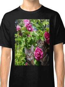 Kittens in The Roses Classic T-Shirt