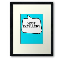 MOST EXCELLENT by Bubble-Tees.com Framed Print