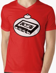 RETRO TAPE CASSETTE by Bubble-Tees.com Mens V-Neck T-Shirt