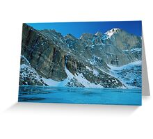 Blue Chasm Greeting Card
