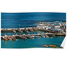 Boats in Kalk Bay harbour, South Africa Poster