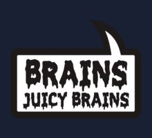 BRAINS JUICY BRAINS by Bubble-Tees.com One Piece - Long Sleeve