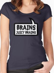 BRAINS JUICY BRAINS by Bubble-Tees.com Women's Fitted Scoop T-Shirt