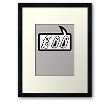 BOO by Bubble-Tees.com Framed Print