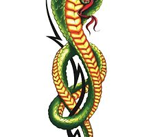snake green by teeshoppy