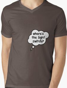Pregnancy Message from Baby - Where's The Light Switch? by Bubble-Tees.com Mens V-Neck T-Shirt
