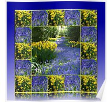Keukenhof Gardens - Flower Lane Collage Poster