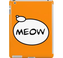 MEOW by Bubble-Tees.com iPad Case/Skin