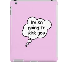 Pregnancy Message from Baby - I'm So Going to Kick You by Bubble-Tees.com iPad Case/Skin