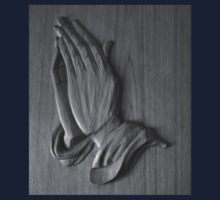 Praying Hands in Black and White Kids Clothes