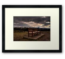 Empty bench Framed Print