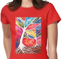 Abstract Trees Womens Fitted T-Shirt