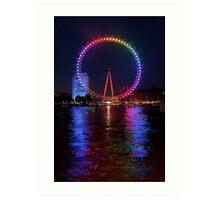 Pride of London - London Eye Art Print