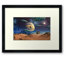 Dimensions Gate Framed Print