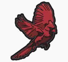 Cardinal - Red Bird in Flight Kids Tee