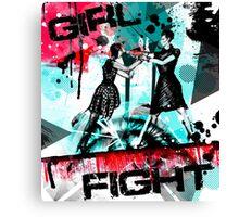 Girl Fight Canvas Print