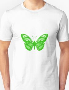 Green Butterfly - Vector Art T-Shirt