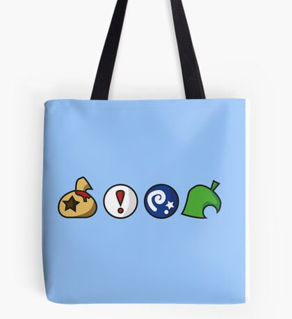 Animal Crossing Items (in many colours!) Tote Bag