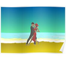 Tango on the beach Poster