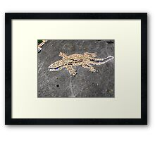 Gecko Mosaic Framed Print