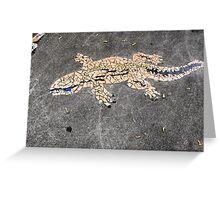 Gecko Mosaic Greeting Card
