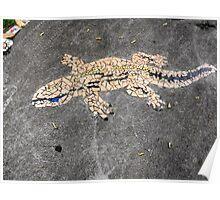Gecko Mosaic Poster