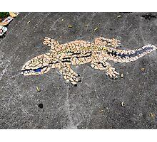Gecko Mosaic Photographic Print