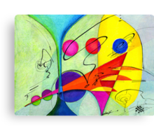 The Marriage Abstract Canvas Print