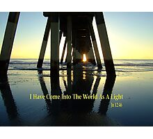 His Light At The End Of The Pier Photographic Print
