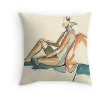 Abstract Seated Throw Pillow