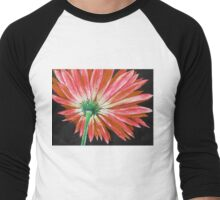 Orange Gerbera Men's Baseball ¾ T-Shirt