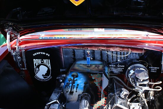 Service, Honor, Dignity & Power; Engine; Dignity Memorial Vietnam Wall Car Show Cal High, Whittier, CA USA by leih2008