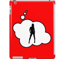 Female Silhouette by Bubble-Tees.com iPad Case/Skin