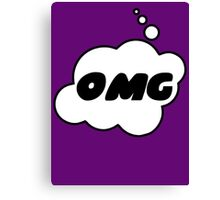 OMG by Bubble-Tees.com Canvas Print
