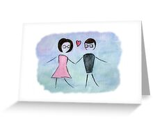 Nerd Love - Watercolour and Charcoal Greeting Card