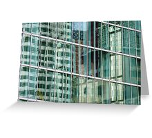 Reflections in Boston Windows  Greeting Card