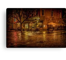 Rain On The Cobblestones Of Greenwich Village Canvas Print