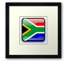South African Flag, South Africa Icon Framed Print