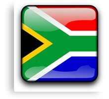 South African Flag, South Africa Icon Canvas Print