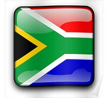 South African Flag, South Africa Icon Poster