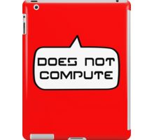 Does Not Compute by Bubble-Tees.com iPad Case/Skin