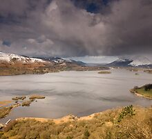 Snow Surprise on Derwent Water by Brian Kerr