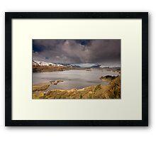 Snow Surprise on Derwent Water Framed Print