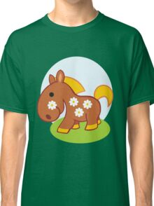 Floral little horse Classic T-Shirt