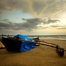 Fisherman's boat at sunset by Akshay Dhavle