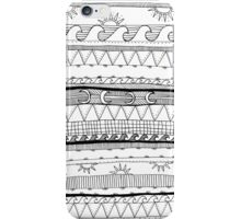monochrome stripy patterns iPhone Case/Skin